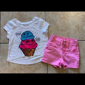 Girls justice outfit Top & Shorts 7